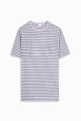 Sunspel Multi Stripe T Shirt Ivory