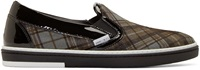 Jimmy Choo Grey Tartan Grove Slip On Sneakers