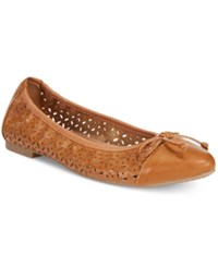Rialto Sofie Perforated Ballet Flats Women's Shoes Saddle