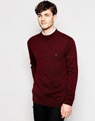 Peter Werth Turtle Neck Jumper Burgundy
