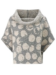 Crea Concept Spotted Wool Blend Jumper Stone Grey