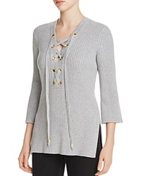Michael Michael Kors Lace Up Tunic Pearl Heather