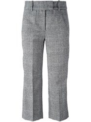 Dondup Checked Cropped Trousers Black