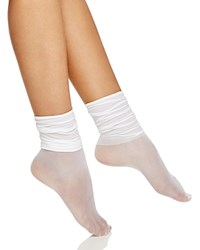 Hue Slouchy Ankle Socks White
