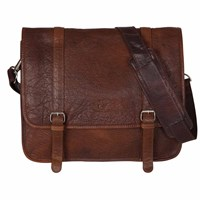 Sterling And Pelle James Brown Leather Satchel Bag