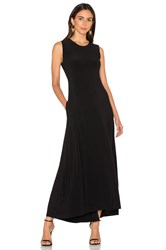 Norma Kamali Sleeveless Long Swing Dress Black