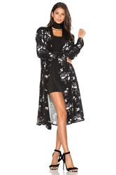 L'academie X Revolve The Silk Robe Black
