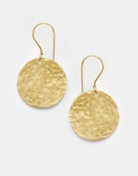 Made Disc Drop Earrings Gold