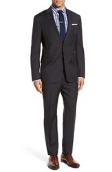 Todd Snyder Men's White Label 'May Fair' Trim Fit Check Wool Suit Charcoal