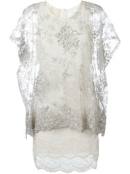 Loyd Ford Layered Lace Dress Grey