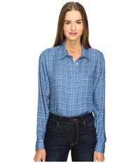 Love Moschino Oversized Plaid Shirt Blue