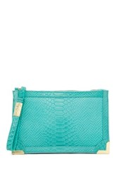 Foley Corinna Genesis Leather Wristlet Blue