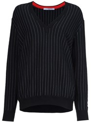 Givenchy Pinstripe Pullover Sweater Black