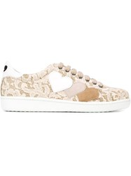 Twin Set Lace Sneakers Nude And Neutrals