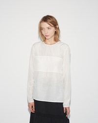 Sara Lanzi Cotton Silk Blouse White