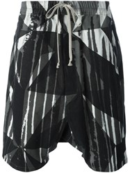 Rick Owens Drkshdw 'Camouflage Pods' Drop Crotch Shorts Multicolour