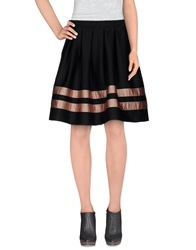 Minimal Knee Length Skirts Black