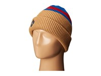 Thirtytwo Bernadino Beanie Blue Heather Beanies Tan