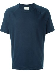 Folk Round Neck T Shirt Blue