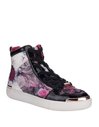 Ted Baker Paryna Floral High Top Sneakers Purple Multi