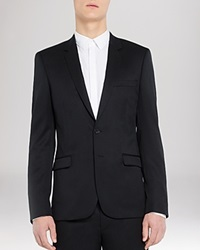 Sandro Notch Suiting Jacket Slim Fit Black