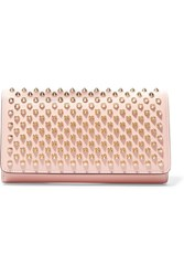 Christian Louboutin Macaron Spiked Leather Wallet Pastel Pink