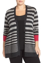 Plus Size Women's Sejour Wool And Cashmere Trapeze Cardigan