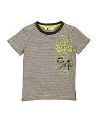 Petit Lem Tribal Surf Striped Tee Lime Multi