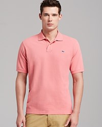 Vineyard Vines Solid Pique Polo Classic Fit Lobster Reef Red