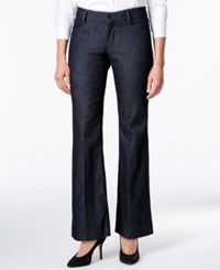 Lee Platinum Petite Denim Wash Wide Leg Trousers