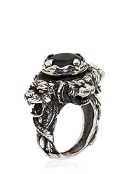 Kd2024 Hand Engraved Jaguar Ring Black Onyx