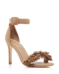 Joie Pippi Fringe High Heel Sandals Buff