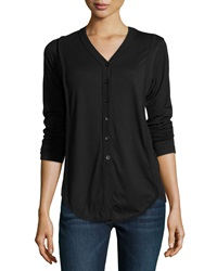 W By Wilt Slouchy Ribbed Knit Cardigan Black