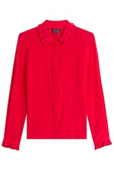 Tara Jarmon Silk Blouse Red