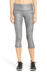 Brooks Women's 'Greenlight' Capri Leggings Heather Oxford Mosaic