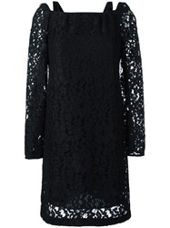 See By Chloe Embroidered Lace Dress Black