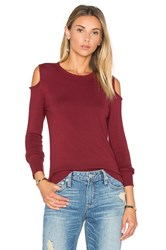 525 America Open Shoulder Sweater Red
