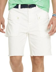 Polo Ralph Lauren Relaxed Fit Herringbone Naval Shorts White