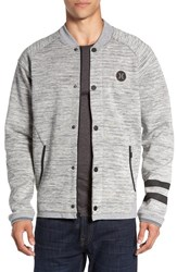 Hurley Men's 'Phantom' Varsity Bomber Jacket Dark Grey