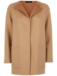 Jaeger Double Faced Wool Duster Coat Camel