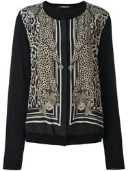 Roberto Cavalli 'Diamond Cats' Bomber Jacket Black