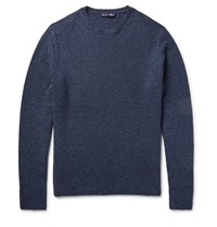 Alex Mill New England Slub Wool Sweater Navy