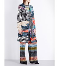 Missoni Long Knitted Wrap Cardigan Multi