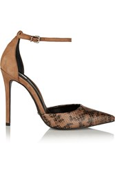 Schutz Irma Suede And Snake Effect Leather Pumps Animal Print