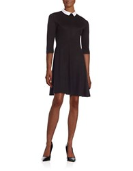 French Connection Fast Fresh Jersey Fit And Flare Dress Black White