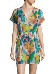 Milly Banana Leaf Silk Cover Up Multi