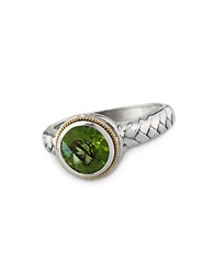 Effy Balissima Peridot Ring In Sterling Silver With 18 Kt. Yellow Gold Sterling Silver 18K Yellow Gold