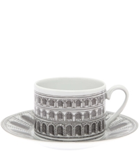 Fornasetti Architettura Tea Cup And Saucer Set Crockery By Fornasetti Liberty.Co.Uk