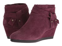 Nine West Lina Wine Suede Women's Boots Burgundy