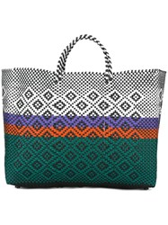 Truss Nyc Woven Tote Green